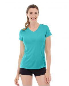 Gabrielle Micro Sleeve Top-M-Blue